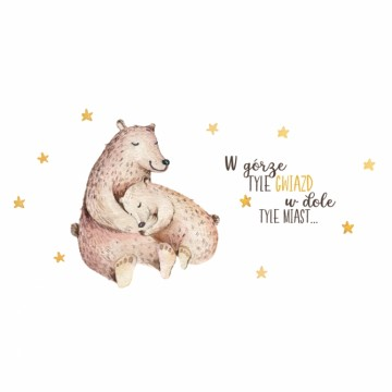 Naklejka Śpiące Niedźwiadki