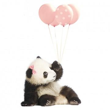 Naklejka Panda z różowymi...