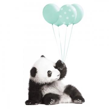 Naklejka Panda z miętowymi...