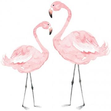 Naklejka Para Flamingów