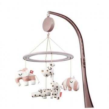 Karuzelka do łóżeczka - różowa