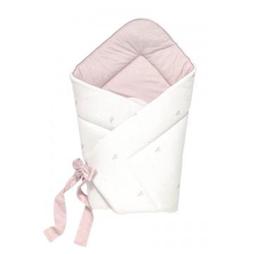 Bawełniany biało - różowy...