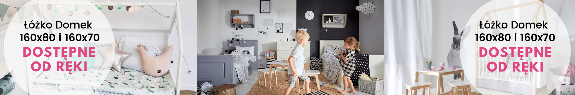 Łóżko domek z szufladami barierkami  - My Sweet Room – Meble dziecięce